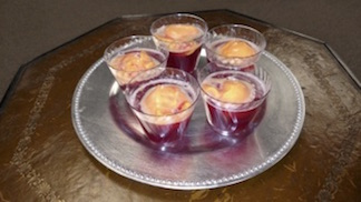 Cranberry Juice and Sherbert