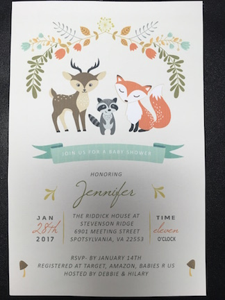 Jenny Shower Invite