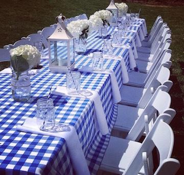 BBQ checkered tablecloth